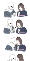 sans is in love by bbowky