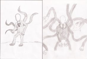 Which Slender drawing is better? by SalTheSpriter