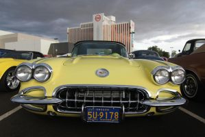 Pale yellow Corvette by finhead4ever