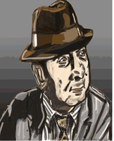 Bob Hoskins (Tribute drawing) by cobra10