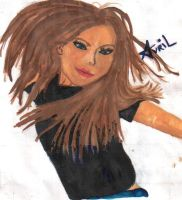 Avril in Paint by jeweliaz