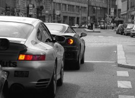 Porsche and Ferrari... In BW by SULiik