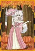 Parasol and Pumpkins by cindre