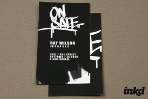 Urban Streetwear Business Card by inkddesign