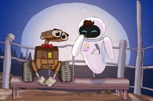 disney!klaine - Wall-E by ChemicalRejectBoys