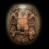 double-headed eagle tattoo by ErdoganCavdar