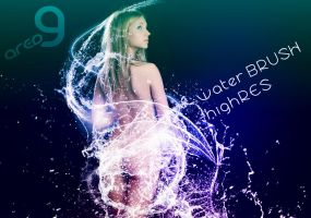 Water brushes High resolution by superzstock