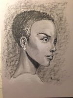 Charcoal portrait by NJValente