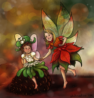 Christmas Fairies by Windmaedchen