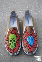 skull and diamond shoes by mburk