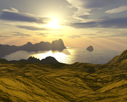 Terragen background stock 1 by AlzirrSwanheartStock