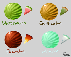 Elemelons by EarthGwee
