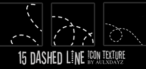 15 Dashed line icon textures by tekhniklr