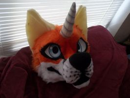 Narfox fusuit head WIP by AlieTheKitsune