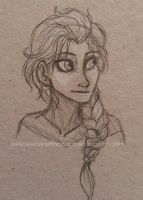 Elsa Sketch by Deesney