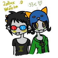 Sollux and Nepeta by KannibalPirate