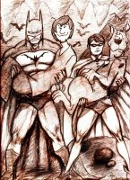Scooby Doo Batman and Robin by MisterHydesSon