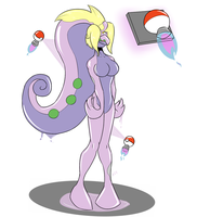 Goodra girling process by HelixJack
