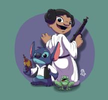 Princess Lilo and Stitch Solo by stinawo