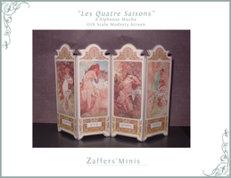 minis: mucha modesty screen by afterthestars