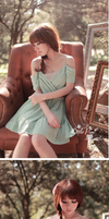 Elegant Princess Chiffon Dress L21051 by littlepawfashion
