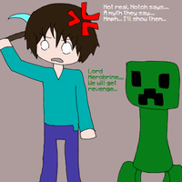 Herobrine and his thoughts,... by Americanaooni