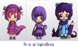 and yet more free adoptables by ThatAnimeDude