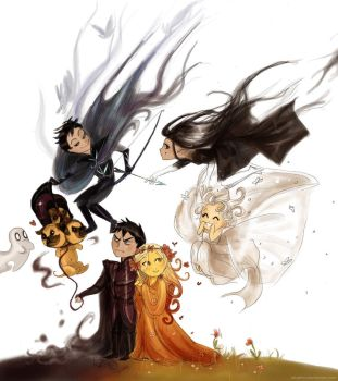 Hades Happy Family 2 (chibi too) by Arbetta