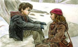 Harry and Hermione in PoA by DKCissner