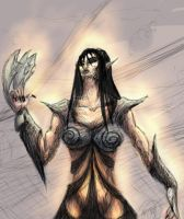 Colored Woman Warrior by DM7