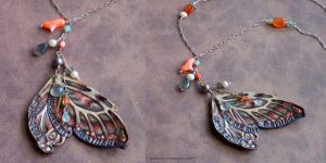 Faery Wing Necklace by phee-adornments