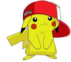 Cute Pikachu with Hat by mlpochea