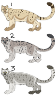 Point adopts - Snow leopards by Kaeda-adoptables