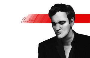 Quentin Tarantino by RomanianGuy