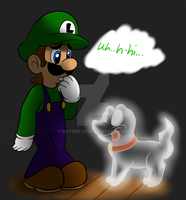 Luigi Meets Polterpup by raygirl12