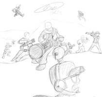 TF2 Battle Sketch by Twisted4000