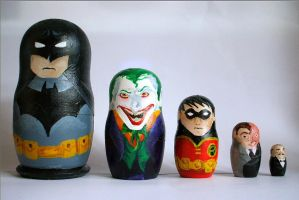 Batman Russian Dolls by iirima-jennifer