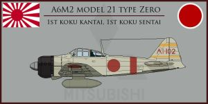 A6M2 Model 21 Type Zero by Grevinsky79