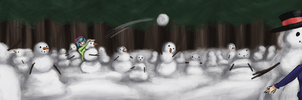 Army of Snowmen by KadenDragon