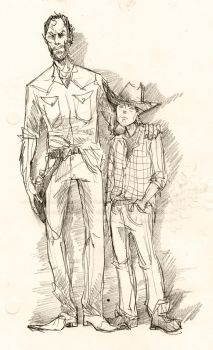 Rick and Carl Grimes by Mooknar