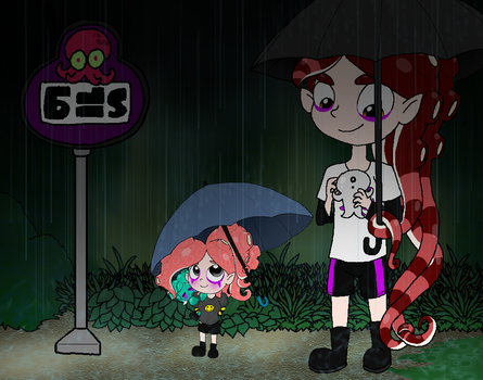 Julie and Matrix in the Rain by Rotommowtom