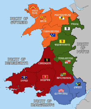 Kingdom of Wales - Alternate History Map by AMCAlmaron