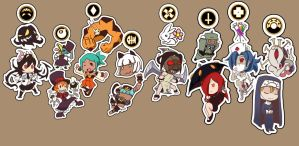 Skull Girls Charms: A more complete set by lisu-c
