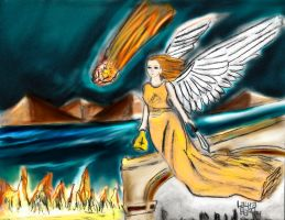 Karmic Angel of Fire by LauraHaro1994