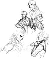 Thor 2 trailer sketches by LessienMoonstar