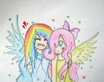 Fluttershy and Rainbow Dash by quynhanhnguyendac