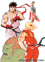 Street Fighter Sketches 01 by Sethard