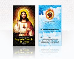 BUSINESS CARD SACRED HEART by jotapehq