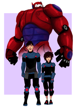 BH6/ Pacific Rim AU by sibandit