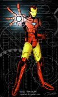 iron man colored by spushan